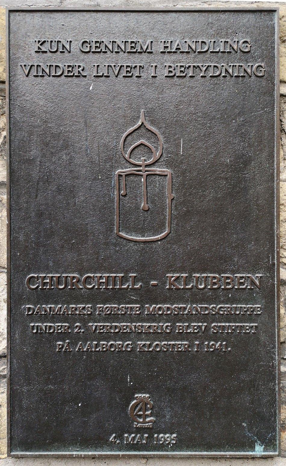 Mindeplade for Churchill-Klubben