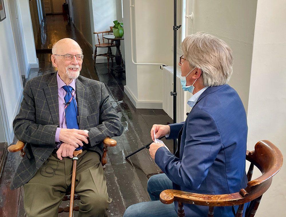 Mogens Jørgensen interviewer Helge Milo