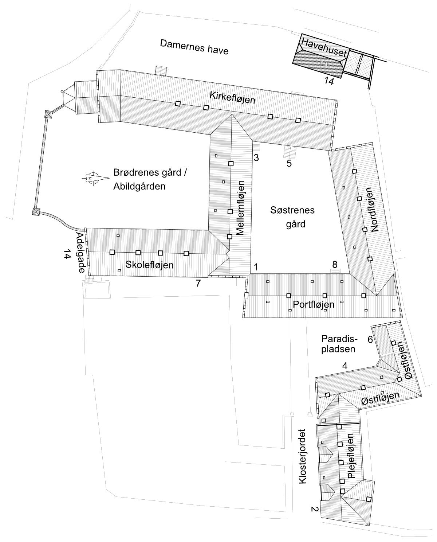 Aalborg Kloster oversigtskort